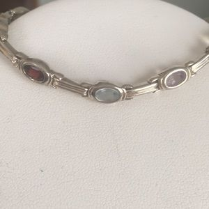 Jewelry - Sterling gemstone bracelet